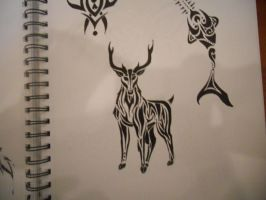 Tribal Deer by mikaylamettler