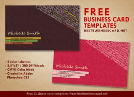 Artist Business Card Templates in Pink and Brown by fiftyfivepixels