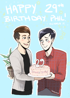 Happy Birthday Phil by incaseyouart