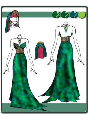 Quietus Designs: Peafowl Gown ~ Incomplete