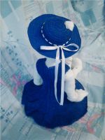 Annabeth's new look 3 (back view of dress and hat) by AncarianNixa