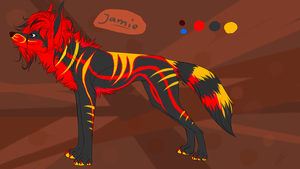 jamie reference. (my OLD fursona) by Velkss