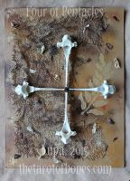 The Tarot of Bones: Four of Pentacles by lupagreenwolf