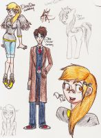 The Doctor and Ditzy Cartoony by Snicket-Chan