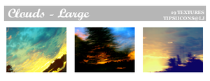 Funky Clouds - Large by Tarla