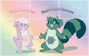 Timid Heart and Smart Heart by ThisCrispyKat