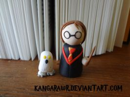 Harry and Hedwig by kangarawr