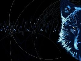 Techno Wolf - Wallpaper by Orbyx