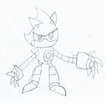 Sonic Skyline Metal Sonic Sketch by JacktheCat779