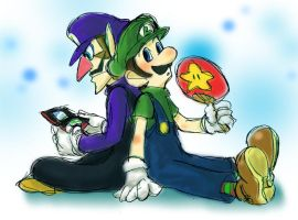Luigi and Waluigi 2 by tekoyo