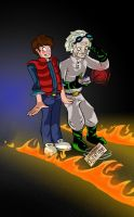 Doc Brown and Marty by Jonny-Aleksey