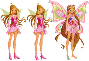 Flora's Fariy Evolution by AstralBlu