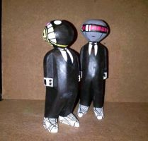 daft punk wood sculptures by BrentBlack