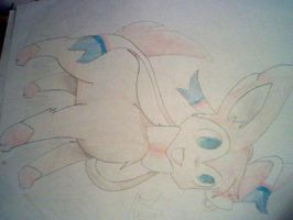 My first Ninfia/Sylveon sketch! by ShinyLatias82