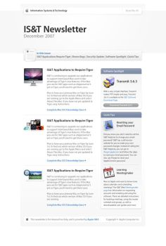 Apple IS+T Newsletter by TheRyanFord