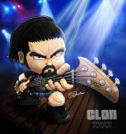 CLON Bass player Comission by fargnay