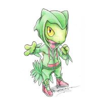 Treecko in a Sceptile Hoodie