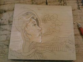 Breath Print Plate Carving by 10k10k