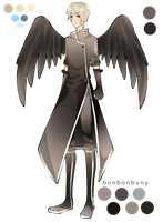 Custom Black Angel Adopt by Miivei