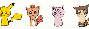 Pokemon Doodles by AmyLovesPenguins