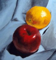 Apple and Orange by Firera