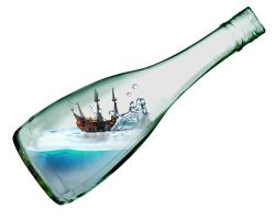 Ship in a bottle by DESIGNOOB