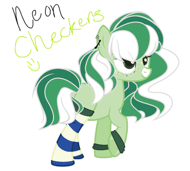 Neon Checkers by Chococolte