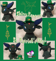 St. Patrick's Day Shiny Espeon Plushie :Sold: by Ami-Plushies