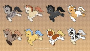 [Closed] Adoptables: Unicorn Ponies by MySweetQueen