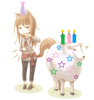 Spice and Wolf Birthday by crazedhobbit
