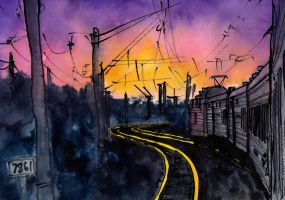 Trans-Siberian, Rails on fire by Vokabre