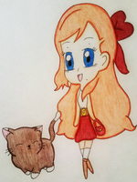 SNK: A Girl And Her Kitty Friend by thebigblackdevil5