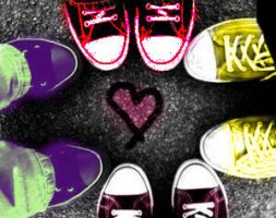 colorful converse by morganblahyeah