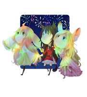 Chibi commission :: let's go see the fireworks by ReroPumpkin