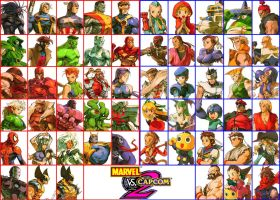 Marvel Vs Capcom Characters [Character Select] by NorthernCross12