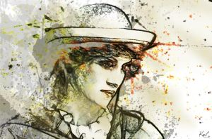 Painting Lady Diana by kawl4sure