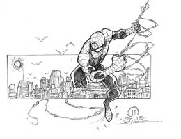 Spidey sketch commish by JoeyVazquez