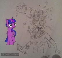 Twilight meets the Witch doctor (color progress) by 666inflames666