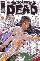Michonne Walking Dead Sketch Cover by calslayton