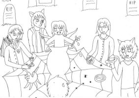 Kiriban WIP Dark Tea Party by Phoneix-Faerie