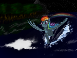 Just a Rainbow in a dark by 3Maxa