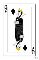 Queen of Diamonds Cards by smallvillereject
