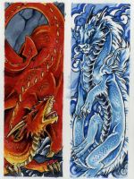 dragon bookmarks set B by Hbruton