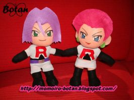 chibi Jessie and James plush version by Momoiro-Botan