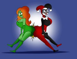COM Harley and Ivy booty bumping by Robot001