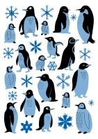 Penguins by Teagle