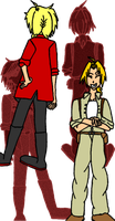 Trisha and Aaron Elric: SideB [Color] by PrettySoldierPetite