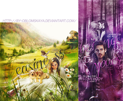 Emilia Clarke Emma Swan and Hook by by-Oblomskaya
