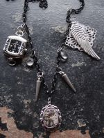 Steampunk 'junk' necklace by Hiddendemon-666