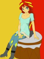 Sunset Shimmer my first sai xD by zaddler